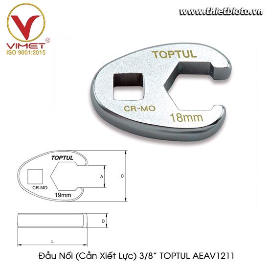 """Đầu Nối (Cần Xiết Lực) 3/8"""" TOPTUL AEAV1211"""