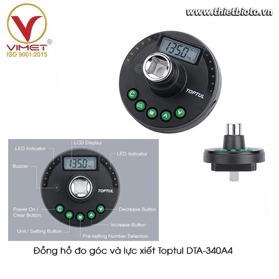 Đồng hồ đo góc và lực xiết  TOPTUL DTA-340A4
