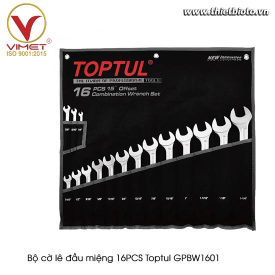 Bộ cờ lê đầu miệng 16PCS Toptul GPBW1601