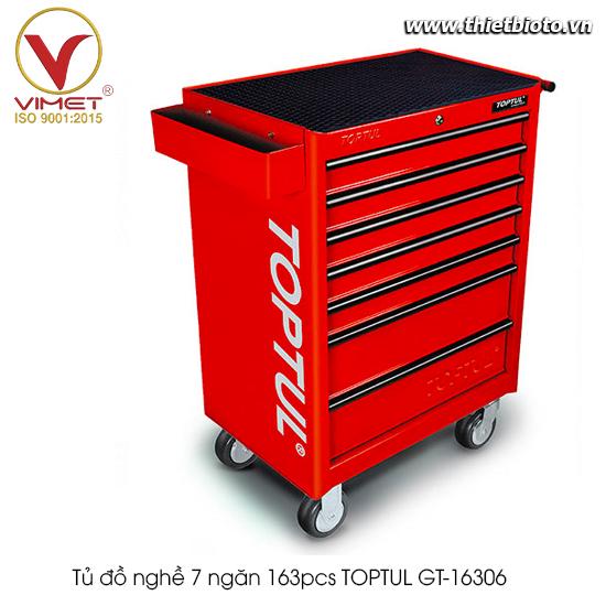 Tủ đồ nghề 7 ngăn 163pcs TOPTUL GT-16306