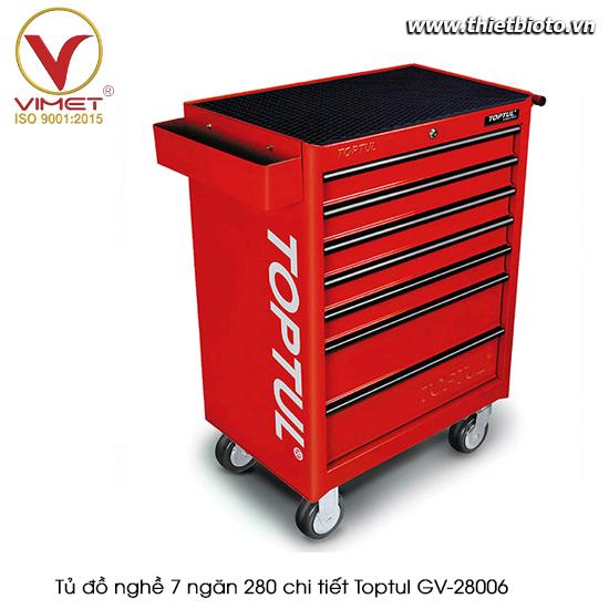 Tủ đồ nghề sửa chữa 7 ngăn 280pcs Toptul GV-28006