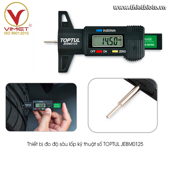 Thiết bị đo độ sâu lốp kỹ thuật số TOPTUL JEBM0125