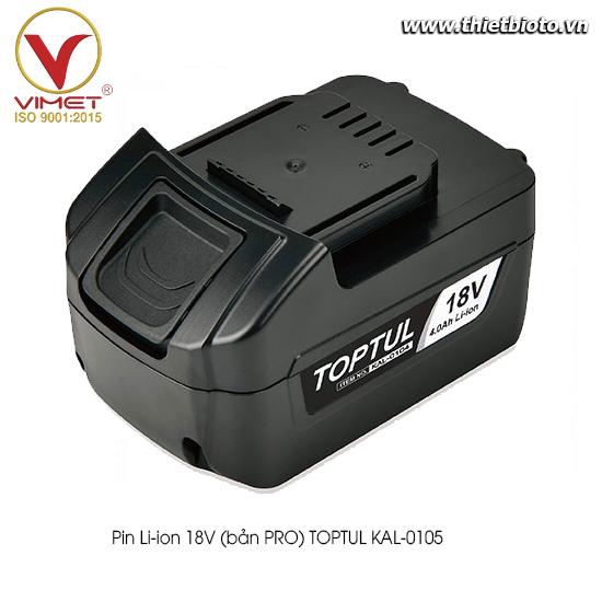 Pin Li-ion 18V (bản PRO) TOPTUL KAL-0105