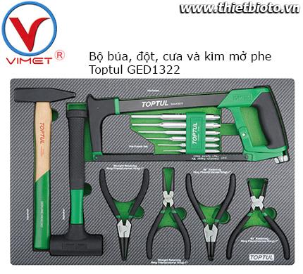 Bộ đồ nghề cho tủ dụng cụ 13  chi tiết Toptul GED1322