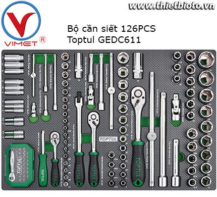 Bộ cần siết 126 chi tiết Toptul GEDC611