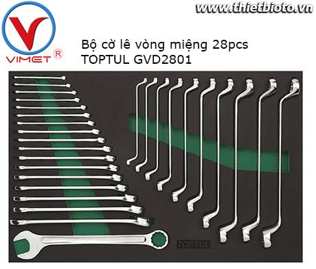 Bộ cờ lê vòng miệng 28pcs Toptul GVD2801