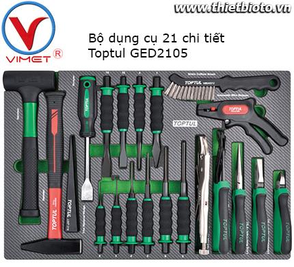 Bộ dụng cụ 21 chi tiết Toptul GED2105