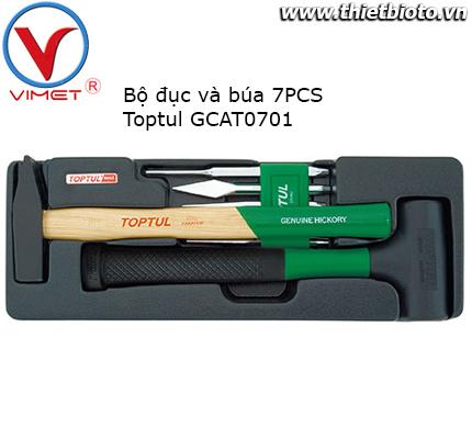 Bộ búa và đục 7 món Toptul GCAT0701