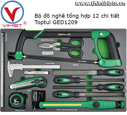 Bộ đồ nghề đa năng 12 chi tiết Toptul GED1209