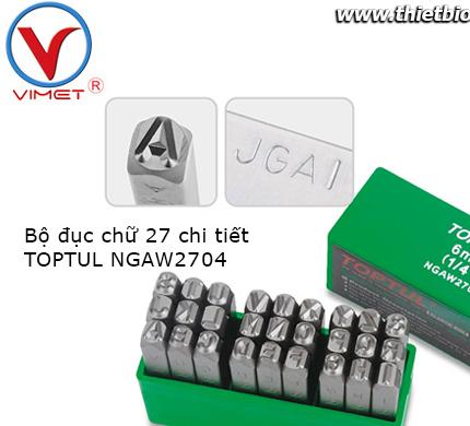 Bộ đục chữ 27 chi tiết Toptul NGAW2704