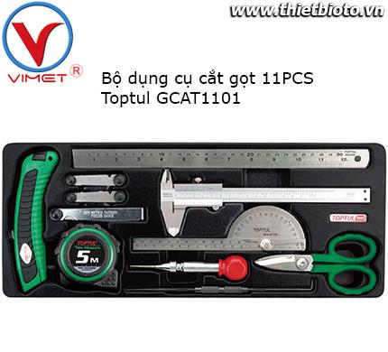 Bộ dụng cụ thước dao kéo 11pcs Toptul GCAT1101
