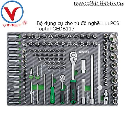 Bộ dụng cụ cần siết và đầu tuýp 111 chi tiết Toptul GEDB117