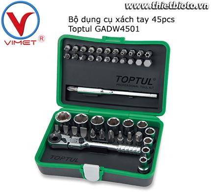 Bộ đồ nghề xách tay 45pcs Toptul GADW4501