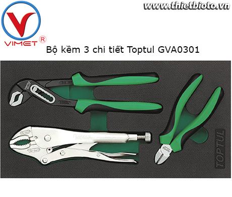 Bộ kềm 3 chi tiết Toptul GVA0301