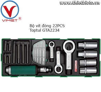 Bộ vít đóng 22 chi tiết Toptul GTA2234