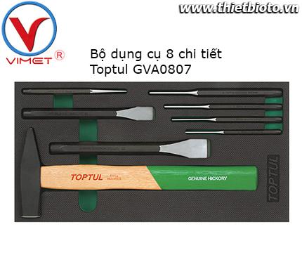 Bộ búa đột và đục 8 chi tiết Toptul GVA0807