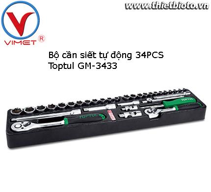 Bộ cần siết tự động 34 chi tiết Toptul GM-3433