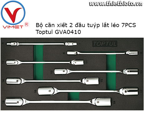 Bộ cần siết 2 đầu tuýp lắt léo 7 chi tiết Toptul GVA0711