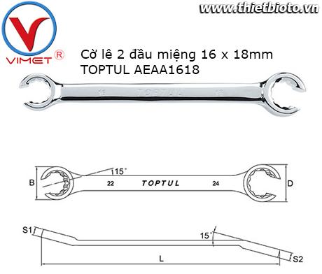 Cờ lê đầu mở 16x18mm TOPTUL AEAA1618