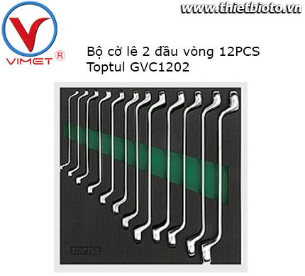 Bộ cờ lê 2 đầu vòng 12 chi tiết Toptul GVC1202