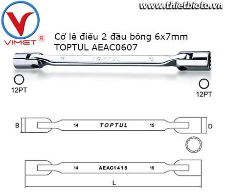 Điếu 2 đầu bông 6x7mm TOPTUL AEAC0607