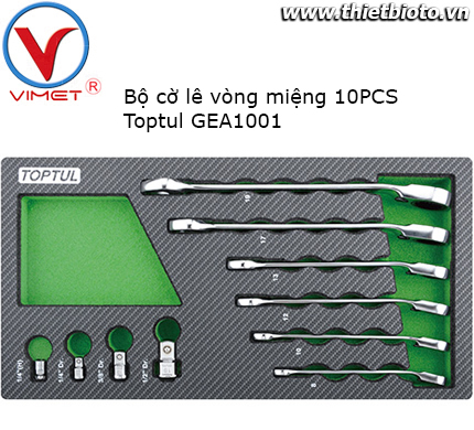 Bộ cờ lê vòng miệng 10 món Toptul GEA1001