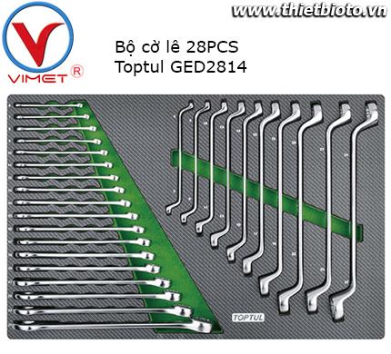 Bộ cờ lê vòng miệng và 2 đầu vòng 28 chi tiết Toptul GED2814