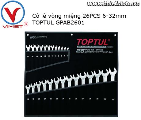 Bộ cờ lê vòng miệng 26 chi tiết Toptul GPAB2601