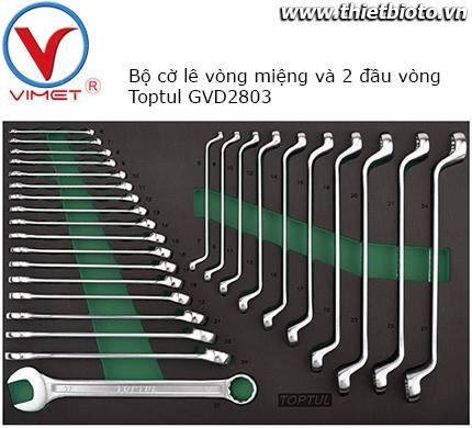 Bộ cờ lê vòng miệng và 2 đầu vòng 28 chi tiết Toptul GVD2803
