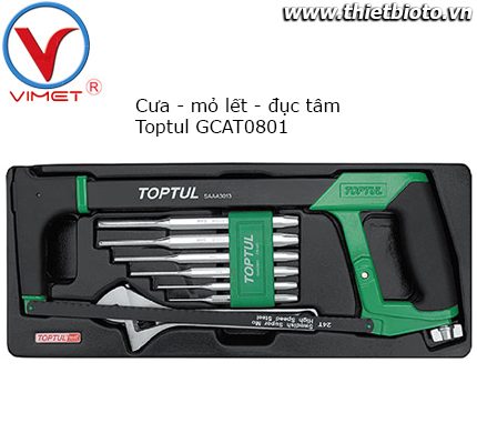 Bộ dụng cụ tổng hợp 8 chi tiết Toptul GCAT0801