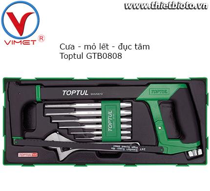 Bộ cưa đục tâm và mỏ lết Toptul GTB0808