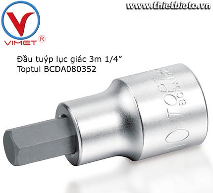 Đầu tuýp lục giác dài 3mm Toptul BCDA080352