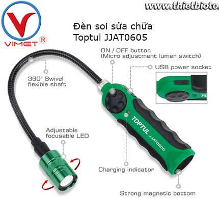 Đèn soi sửa chữa Toptul JJAT0605