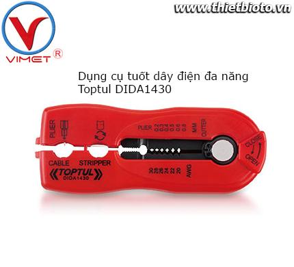 Dụng cụ tuốt dây điện đa năng Toptul DIDA1430