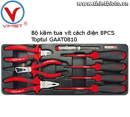 Bộ kềm tua vít cách điện 8 chi tiết Toptul GAAT0810