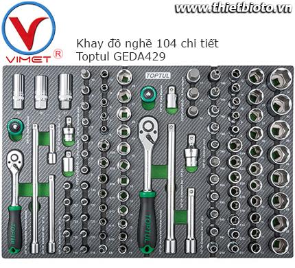 Khay đồ nghề 104 chi tiết Toptul GEDA429