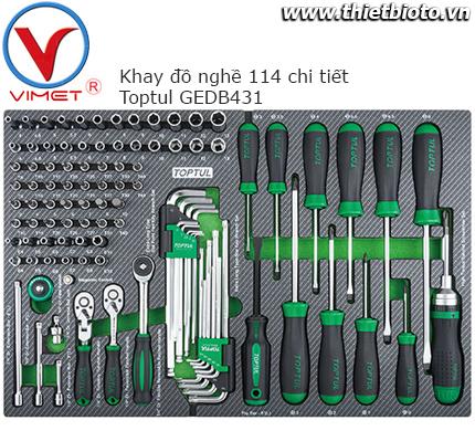 Bộ dụng cụ trong tủ đồ nghề 144pcs Toptul GEDB431
