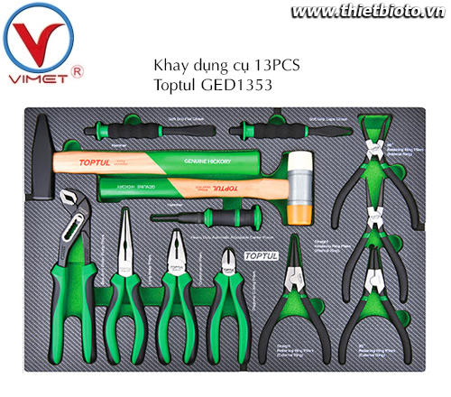 Khay dụng cụ đồ nghề 13pcs Toptul GED1353