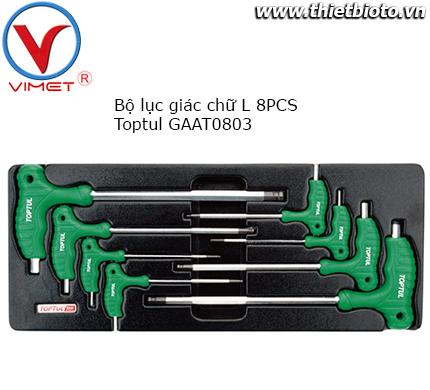 Bộ tuýp lục giác chữ L 8 chi tiết Toptul GAAT0803