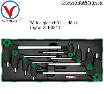 Bộ lục giác chữ L 8 chi tiết Toptul GTB0811