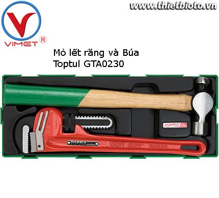 Búa đầu tròn và kìm mở ống nước Toptul GTA0230
