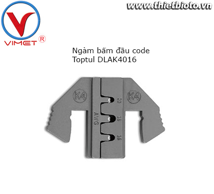 Ngàm bấm đầu code Toptul DLAK4016