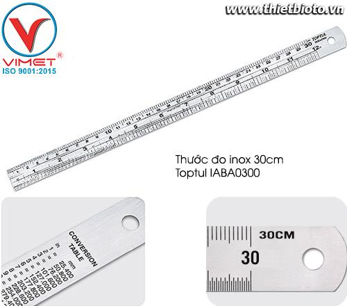 Thước đo bằng thép không gỉ Toptul IABA0300