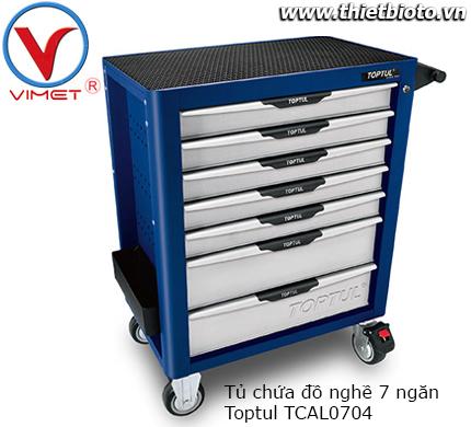 Tủ chứa đồ nghề 7 ngăn cao cấp chống lật Toptul TCAL0704