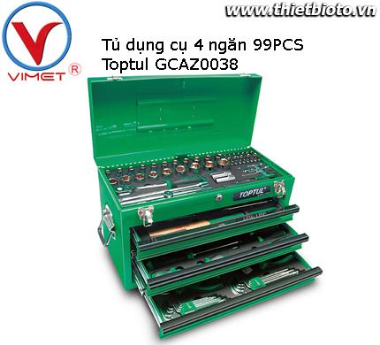 Tủ dụng cụ 4 ngăn 99 chi tiết Toptul GCAZ0038