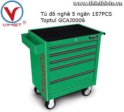 Tủ dụng cụ 5 ngăn 157 chi tiết Toptul GCAJ0006