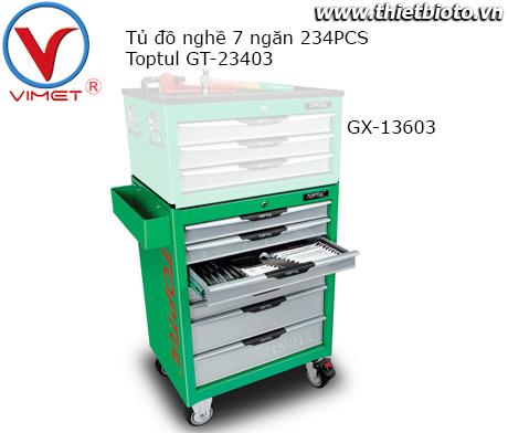 Tủ dụng cụ 7 ngăn 234PCS Toptul GT-23403