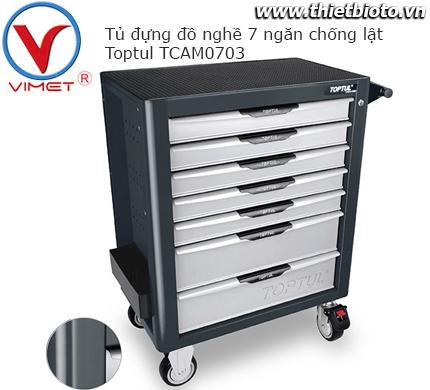 Tủ đựng đồ nghề 7 ngăn cao cấp Toptul TCAM0703