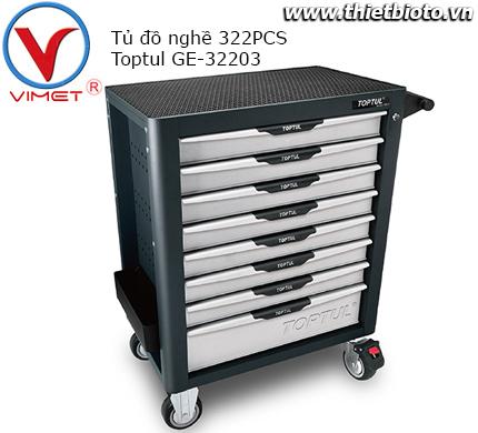 Tủ đồ nghề 8 ngăn 322 chi tiết Toptul GE-32203