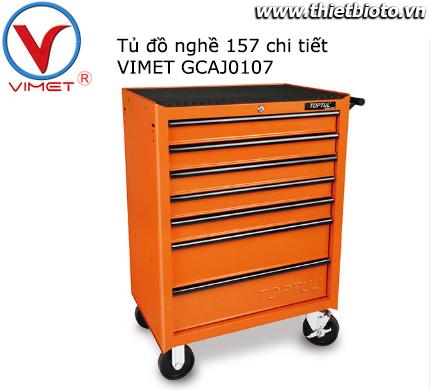 Tủ đồ nghề sửa chữa 7 ngăn 157 chi tiết Toptul GCAJ0107